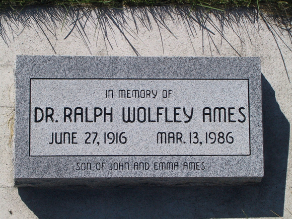 Ames, Ralph Wolfley