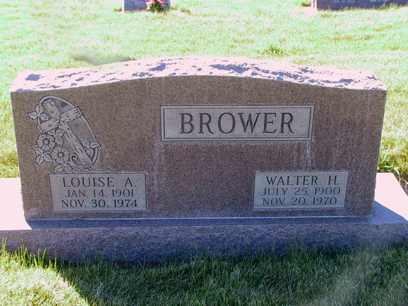 Brower, Walter H (Louise A)